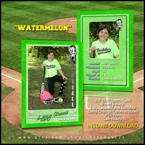 Baseball Sports Trader Card Template For Photoshop by Sharkbyte2k, $5 ...: pinterest.com/pin/703756167296833
