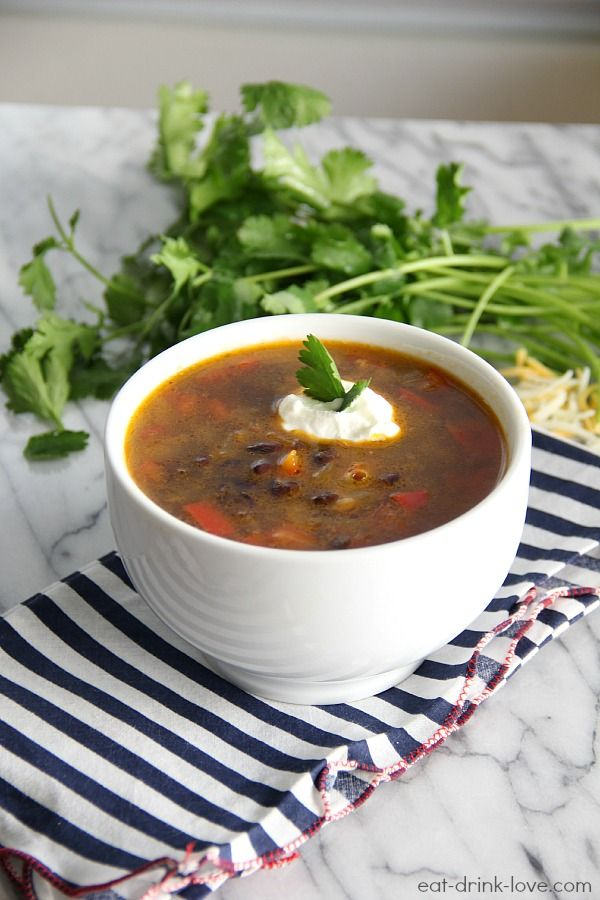 Spicy Black Bean Soup (vegan and gluten-free)