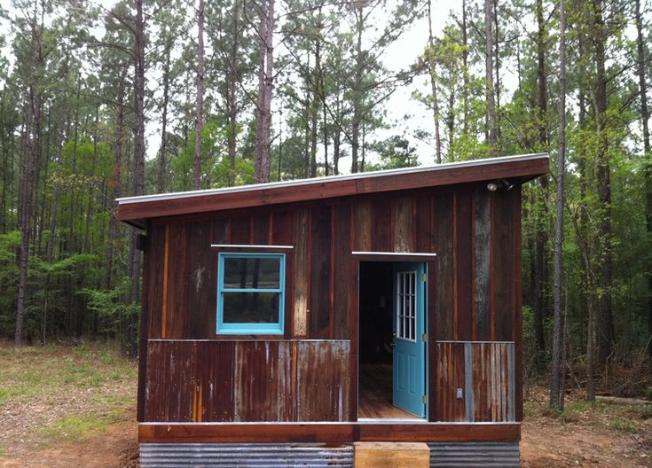 Shed roof recycled cottages camping and cabins pinterest for Shed roof cottage