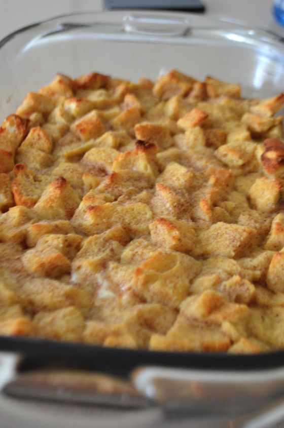 bread pudding with vanilla sauce. | Things to make | Pinterest