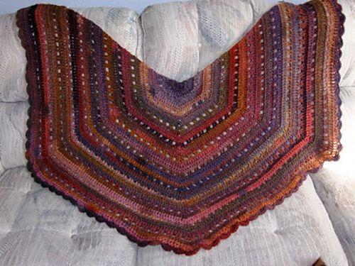 Eva s Shawl Crochet Pattern : Evas shawl alternate border Crochet Scarf & Shawl ...