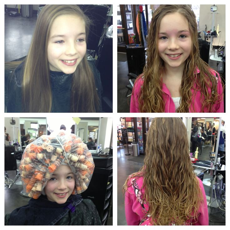 Permed Hair Before And After Before and after beach wave
