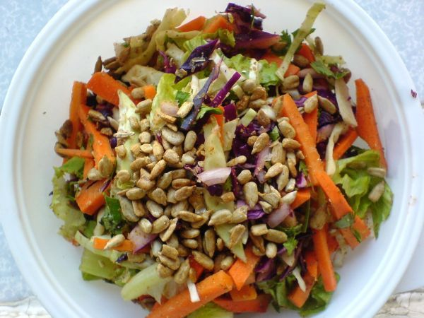 Recipe Carrot and cabbage salad with coriander cumin dry rub, by ...