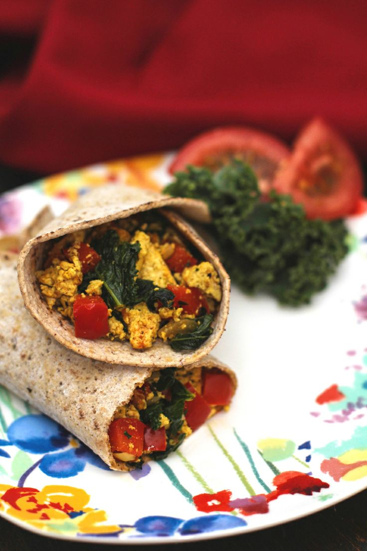 Freezer-Friendly Greens & Tofu Scramble Wraps Recipes — Dishmaps