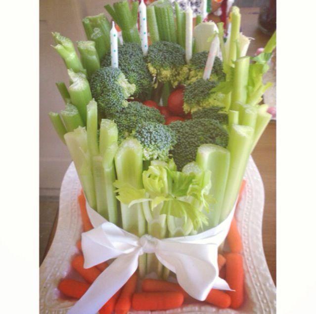 Vegetable birthday cake . cake Pinterest