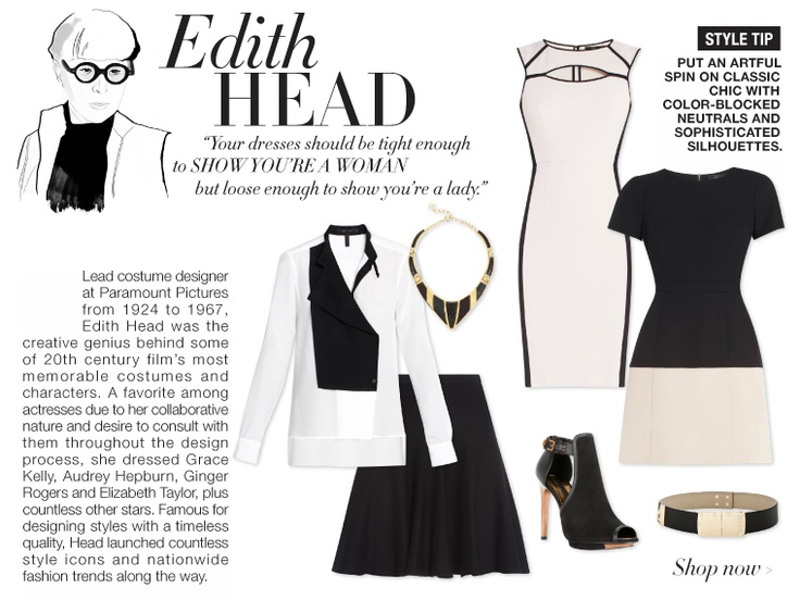 We've styled our favorite risk takers and rule breakers from the worlds of art, entertainment and fashion in some of our favorite trends of the season to inspire real-world looks for fall. #edithhead