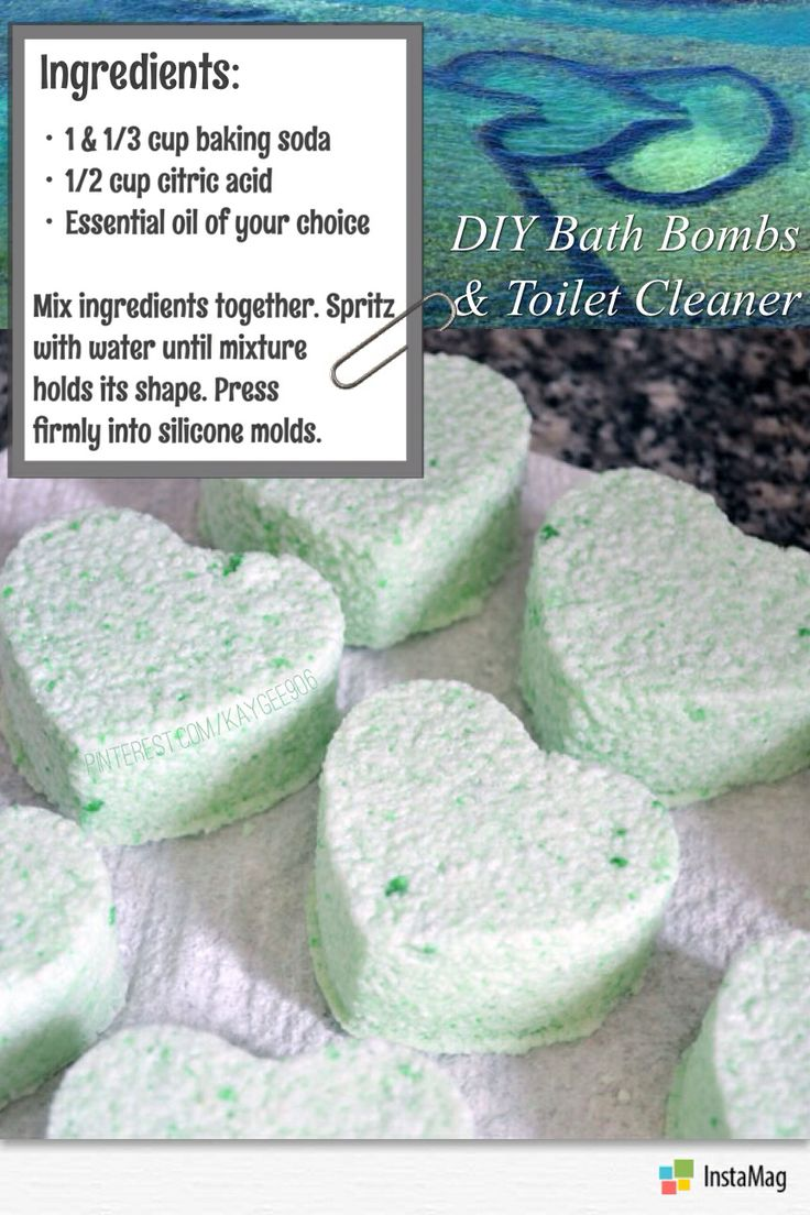 Diy Toilet Cleaner Bath Bomb Around The House Pinterest