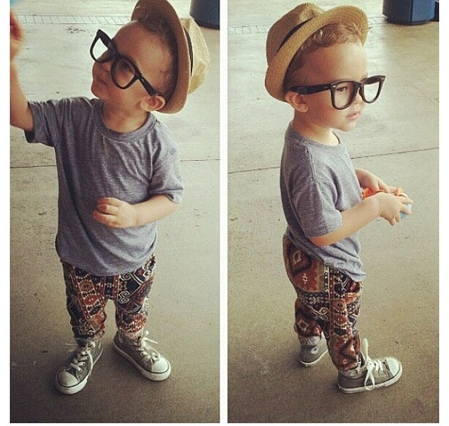 This little guy is so cute! Love his style! #swag #cute