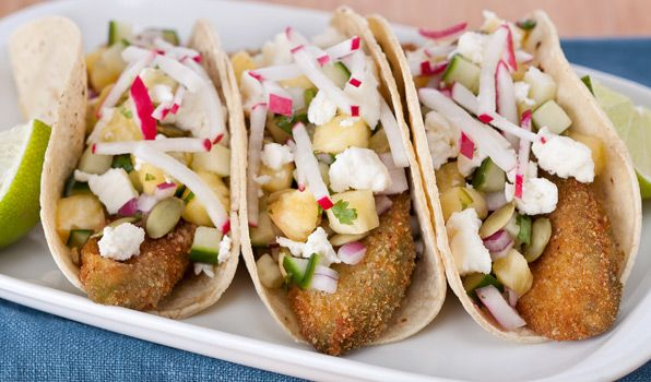 ... crunchy, vegetarian twist. Avocado Tacos with Pineapple-Cucumber Salsa