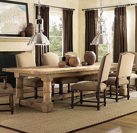 Restoration Hardware Dining Room Table L I V I N G R O O M
