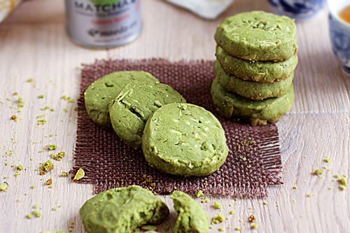 Matcha Almond Cookies. | Kitchen | Pinterest