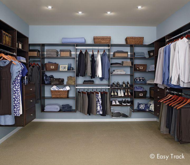 A beautiful walk in closet in truffle closets pinterest for Beautiful walk in closets