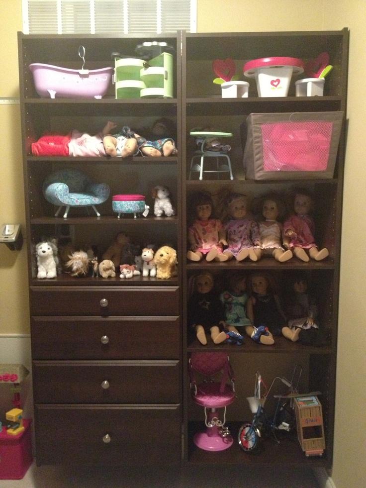 Custom american girl doll storage toddler bedroom ideas for American girl doll bedroom ideas