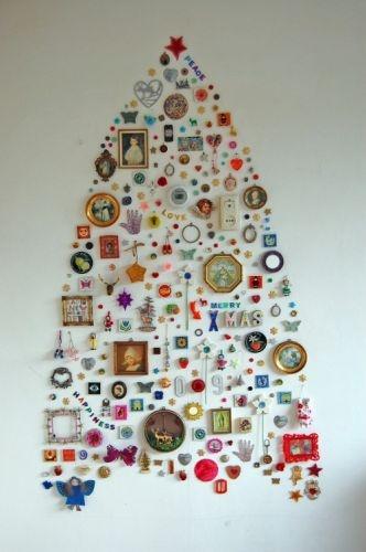 Diy wall light christmas tree home Pinterest