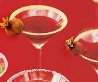 Pomegranate Martinis 1 orange, cut into wedges Sugar 3 cups vodka or ...