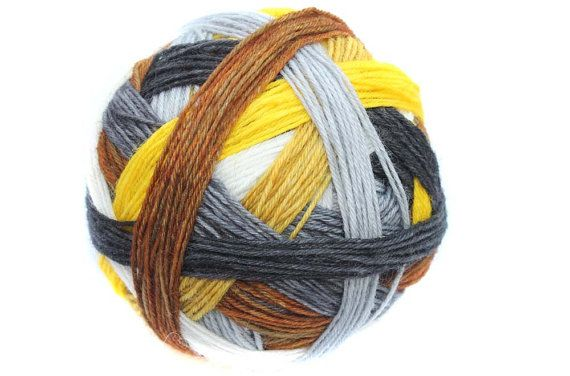 Tangy SelfStriping Sock Yarn in Safari by TwistedLimoneDesigns - New 22.06.13