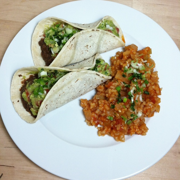 Black Bean Tacos and Spanish Rice Tacos | recipes | Pinterest