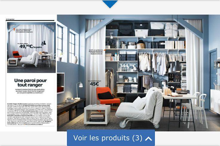 placard mural avec rideaux ikea pictures. Black Bedroom Furniture Sets. Home Design Ideas