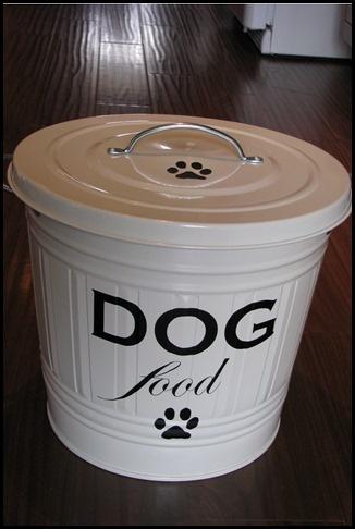dog food container house decor pinterest. Black Bedroom Furniture Sets. Home Design Ideas