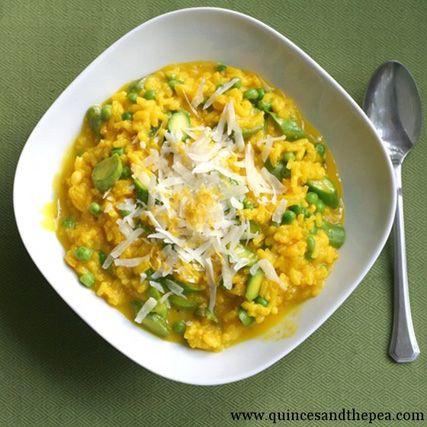 Asparagus, Pea, and Saffron Risotto | delish | Pinterest
