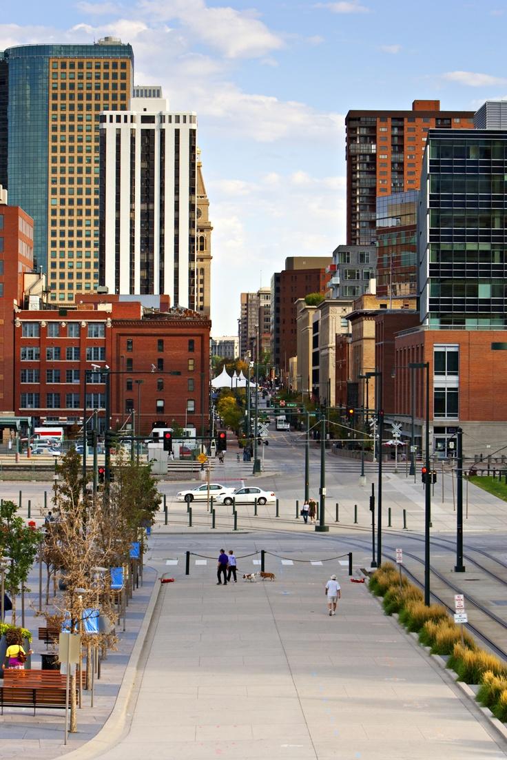 Denver Skyline Of Downtown Colorado Pinterest