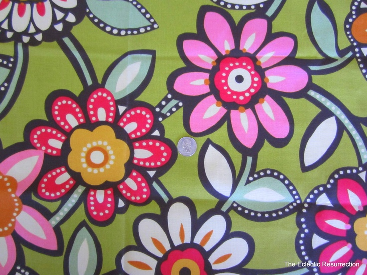 Richloom Home Decor Fabric-Flower Power-1 yard. $10.00, via Etsy.