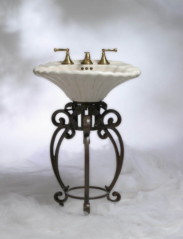 Seashell Pedestal Sink : More like this: pedestal sink , pedestal and shells .