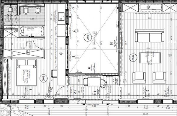 Plan autour d 39 un patio plans de maison ou de pi ces for Plan maison patio