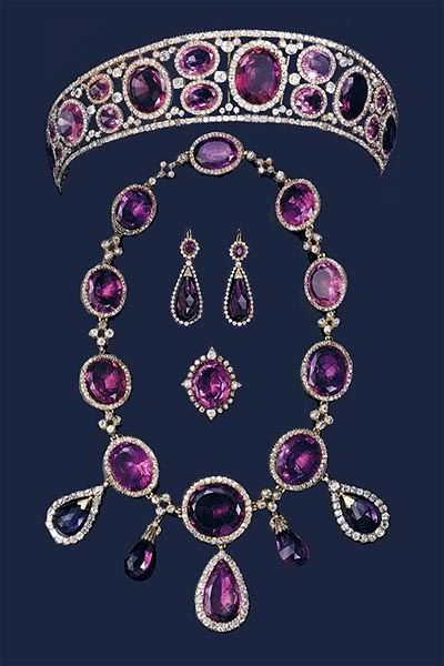 amethyst parure, formerly property of queen mary.