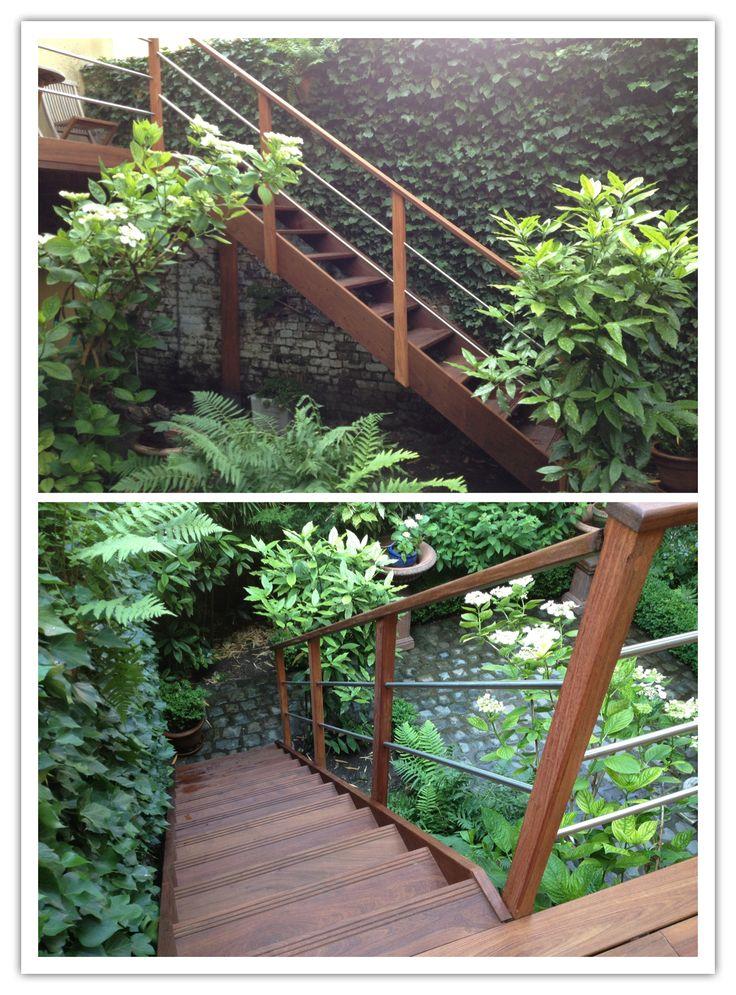 Terrasse en bois exotique  inox  Terrasses  Pinterest