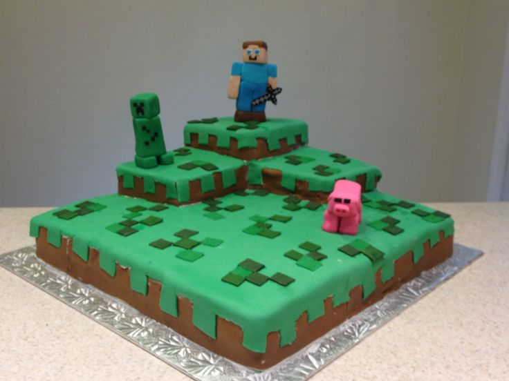 Minecraft cake Cakes for Boys Pinterest