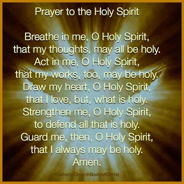1000+ ideas about Holy Spirit Prayer on Pinterest | Holy ...