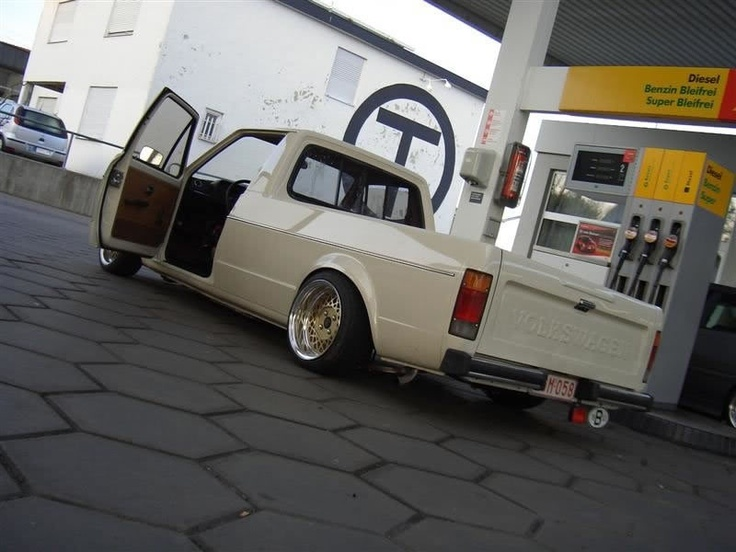 Rabbit convertible together with slammed mk1 rabbit on white vw