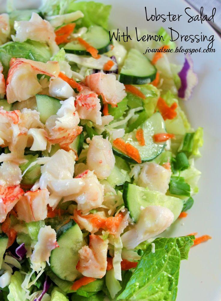 Lobster Salad With Lemon Dressing | Food! | Pinterest