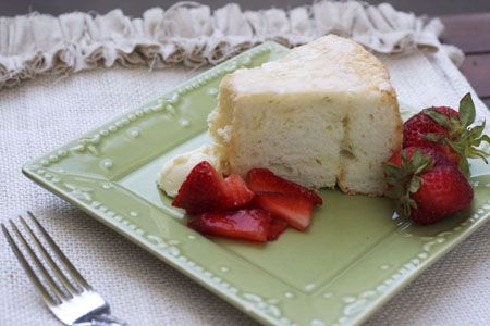 Lime Angel Food Cake with Strawberries and Lime Mascrapone Cheese   R ...