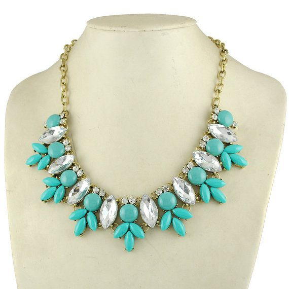J Crew Wedding Gifts : Crew Inspired Flower Bubble Necklace ,Statement Necklace,bridesmaid ...
