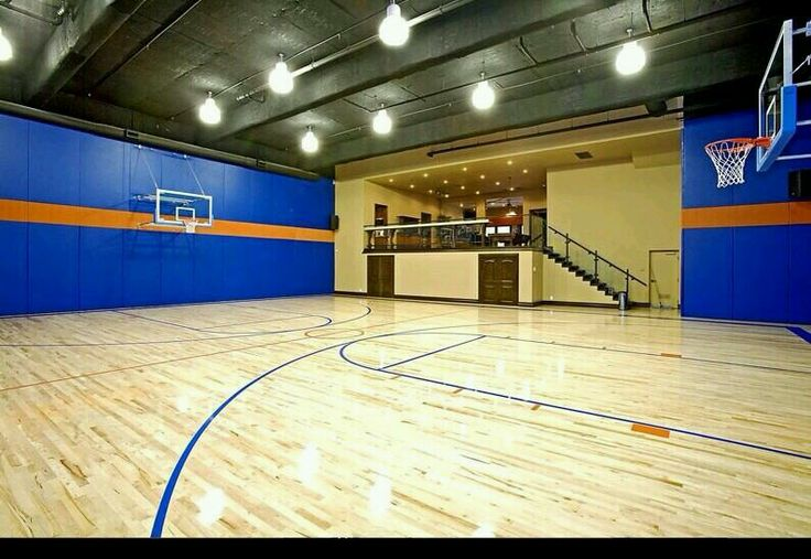 Indoor basketball half court
