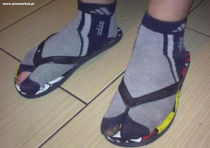 Socks and sandals: I mean, really?!