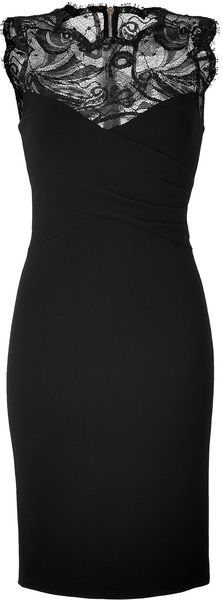 Emilio Pucci Black Lace Dress in Black