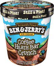 Coffee Heath bar crunch | Ben & Jerry's ice-cream flavours | Pinterest