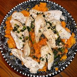 Maple Glazed Chicken with Sweet Potatoes Allrecipes.com