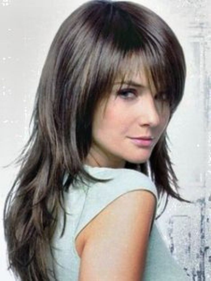 Haircut Types For Ladies : long choppy layered hairstyles with bangs