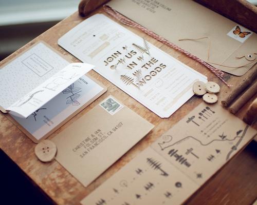 Nature Themed Wedding Invitations Nature Inspired Invites Wedding Stationery Pinterest