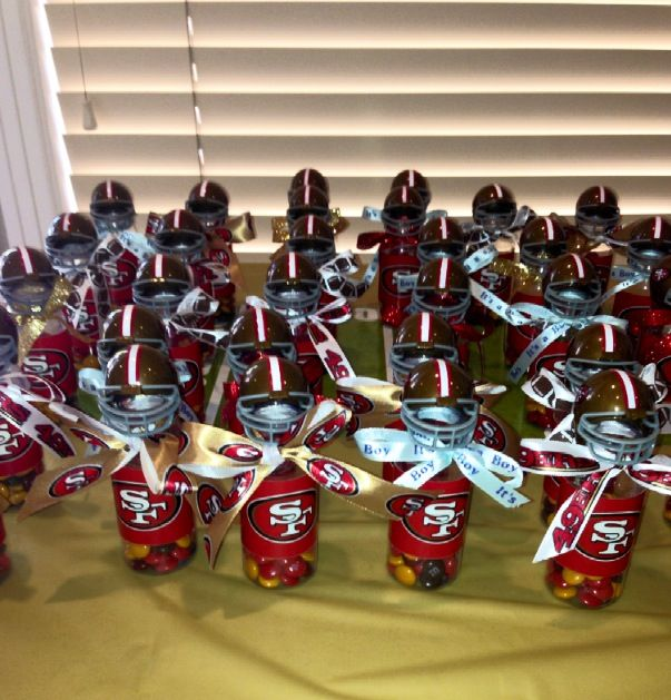 49er themed baby shower party favors thi thi 39 s for 49ers bathroom decor