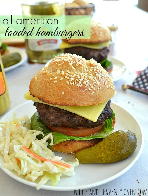Hamburgers. -- Thick, juicy and flavorful classic burgers. Perfect ...