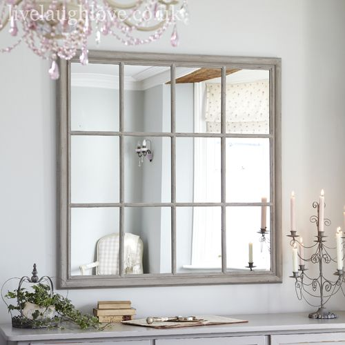 Giant square window mirror rustic home inspiration for Window mirror