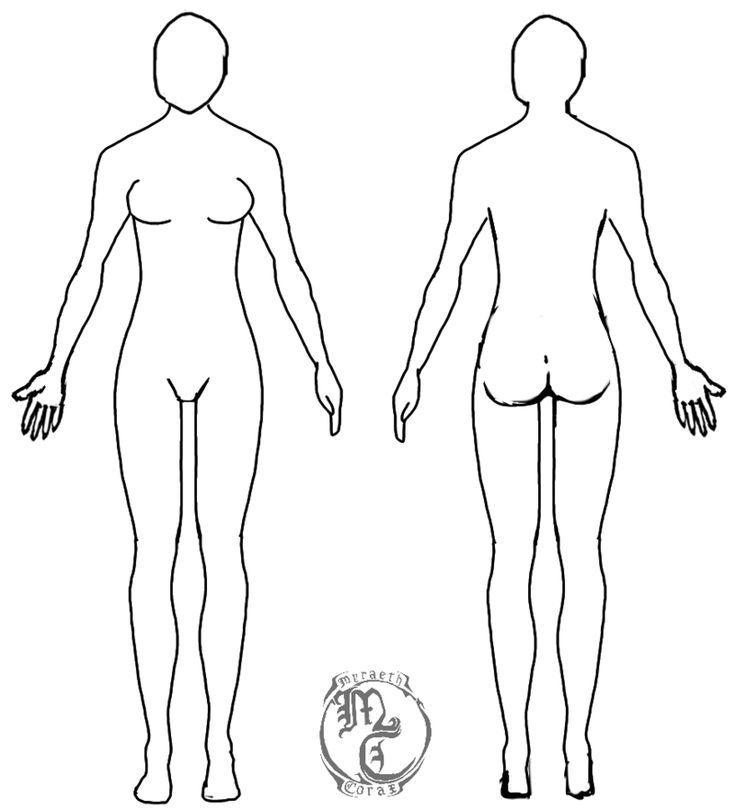 Female human body template