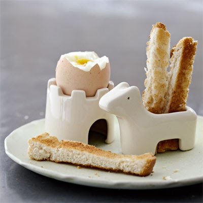 Soft boiled egg (3 minute soft boiled ) and toast soldiers..my mom use ...