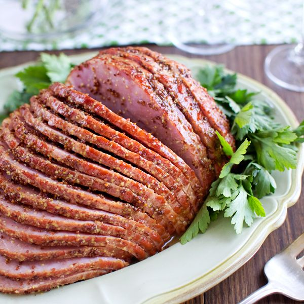 Honey-Mustard Glazed Ham Recipe — Dishmaps