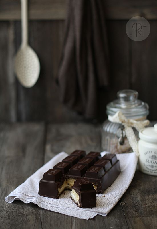 Chocolate Bar Cake {there's cake and whipped cream INSIDE the chocolate!} | la receta de la felicidad